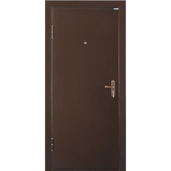 Металлическая дверь СПЕЦ-211 (2050х850 мм) толщина 54 мм, цвет: Медный антик