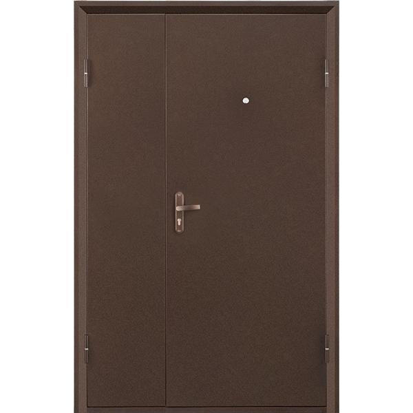 Металлическая дверь ПРОФИ DL (2050х1250мм) толщина 70мм, цвет: Медный антик Доставка не включена