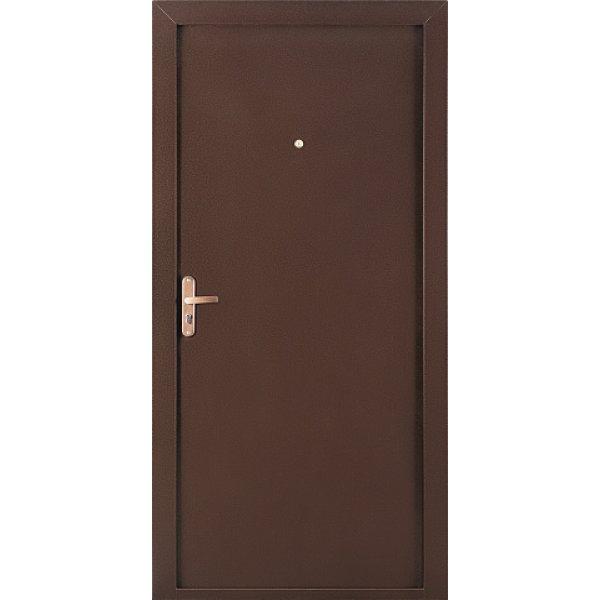 Металлическая дверь РОНДО (2050х880мм) толщина 75мм, цвет: Медный антик